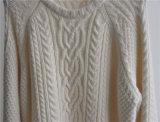 女性冬によって模造されるニットのプルオーバーのセーター