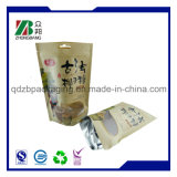 Levar in piedi in su i sacchi di carta del Brown Kraft del sacchetto della chiusura lampo per l'imballaggio per alimenti secco