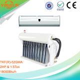 Condizionatore solare ibrido fissato al muro con la visualizzazione di LED