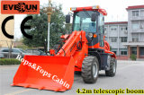 CER Approved 2 Ton Telescopic Bucket Loader mit Rops&Fops Cabin