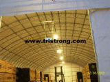 Gran almacén galvanizado de la tela del PVC del marco del tubo del acero trussed (TSU-4966)