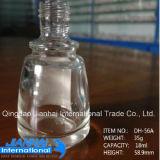 Transparente Glasflasche für Nagellack enthalten mit Schutzkappe
