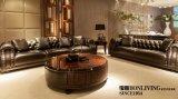 Sofá do couro da mobília da sala de visitas