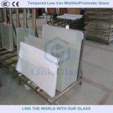 het 3.2mm Aangemaakte Lage Glas van Prismatt van het Ijzer voor de Dekking van de ZonneCollector
