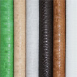 Die Mode-Klassiker Lizard Muster PU-Schuh-Leder für Damen-Sandalen
