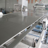 Hoja oscura plástica rígida del PVC del gris