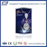 O diodo emissor de luz curvado Borda-iluminado claro Caixa-ESTÁ