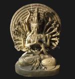 Het Beeldhouwwerk van de Leeuw van het brons, het Gieten van het Brons Leeuw (SL639)