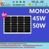 mono módulo solar de 18V 45W 50W (2017)