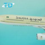 Avião modelo saudita de A330-300 Polyresin