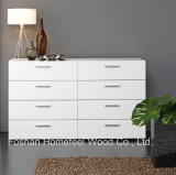 Modern White 4 + 4 Storage Drawer Bedroom Dresser (HC08)