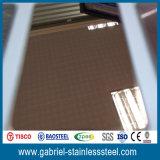 feuille 304 201 1.4mm épaisse d'acier inoxydable de miroir d'or