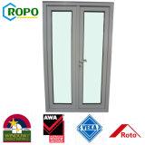 Viruta color UPVC puertas corredizas de vidrio con los mejores materiales de calidad
