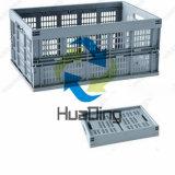 caixas plásticas usadas de produto comestível de 525X355X270mm armazenamento dobrável