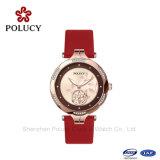 Relógio de pulso do bracelete das senhoras da jóia do aço inoxidável