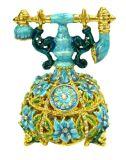 Boîte de bijoux, boîte de bijoux d'alliage, boîte de bijoux en métal (037-1)