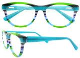 Marco hecho a mano de 2016 del acetato de los marcos ópticos lentes de la vendimia