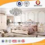 호화스러운 프랑스 작풍 침실 가구 고정되는 침대 (UL-FT618B)