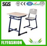 Única mesa de Adjustble do estudante da sala de aula da escola com a mesa do projeto da forma da cadeira com cadeira dos PP