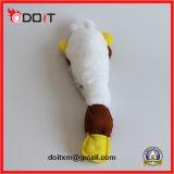 Brinquedo resistente emendado dobro do animal de estimação do luxuoso do rasgo