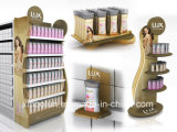 Présentoir d'étage de détail de shampooing de supermarché