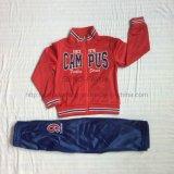 Poliéster Tricot Boy Red Sport Suit Roupa na roupa para crianças Sq-6223
