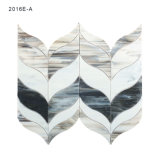 Azulejos de mosaico de cristal grises claros geométricos con diseño del estilo de Filipinas