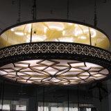 Потолочная лампа Antique китайского типа латунная круглая стеклянная