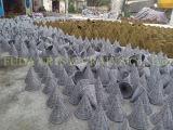 Pote de flores de jardim feito à mão natural de vime
