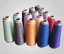 Filé tourné teint par polyester 100%