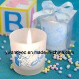 Velas perfumadas del regalo de cumpleaños con la escritura de la etiqueta privada