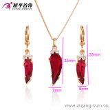 Sistema de lujo plateado oro caliente al por mayor de la joyería de la exportación 18k de China Xuping nuevo