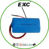 Íon da bateria recarregável 3.7V 18650 2600mAh Li com PWB
