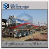 40000L Shiny Aluminum 3 Axle Tank Truck Trailer