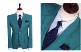 Juegos de asunto de calidad superior de las lanas de los hombres verdes con los bolsillos de corrección