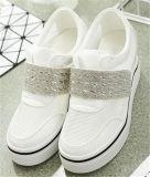 Zapatos vendedores calientes de las mujeres del talón de la cuesta con el diamante (HS8-6)