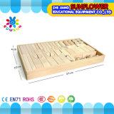 O Desktop de madeira das crianças brinca o enigma de madeira dos blocos de apartamentos desenvolventes dos brinquedos (XYH-JMM10005)