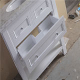 Cabinet de salle de bains en aluminium debout de plancher de qualité avec le miroir