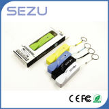 CE/RoHS 2600mAh Twisted Perfume Keychain Power Bank