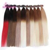 O cabelo humano de Remy do Virgin europeu das perucas do K.S U-Derruba extensões do cabelo