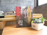Le logo de compagnie a gravé le cahier de luxe de feuilles mobiles de couverture d'art (XLH32120-X01)