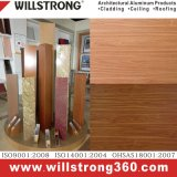 Panneau composé en aluminium extérieur de mur dans la texture en bois