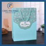 Saco de papel azul romântico de embalagem do casamento de Tiffany (CMG-MAY-056)