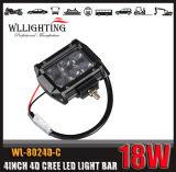 """barre de l'éclairage LED 4D du CREE 4 de 4X4 4inch 18W """" avec 1800lm"""