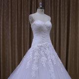 Lacet Tulle Wedding 2016 robes de mariage nuptiales sexy sans bretelles
