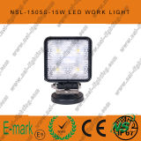 15W СИД Work Light, 10-30V DC СИД Work Light с 1275lm, Spot/Flood Beam, 5PCS x 3W Epsitar СИД для Trucks, СИД Work Light