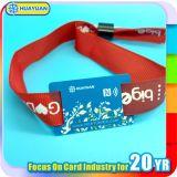 wristband tecido RFID de 125MHz LF T5577 para o controle de acesso do festival