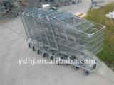 Le chariot de achat utilisé transporte en charrette des ventes