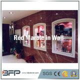 Mattonelle di marmo rosse della parete per la Camera/villa/facciata hotel/della residenza & circondare della priorità bassa & della stanza da bagno della TV
