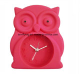 Atacado Kid's Cartoon Coruja Forma Decoração para casa Mute Silicone Table Alarm Clocks